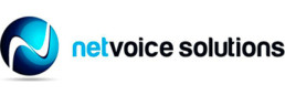netvoice solutions logo design
