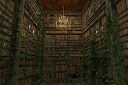 3D_model_interior_spooky_library_render_emagine creations advertising
