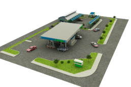 3D_model_carwash_gas_station_top_view_emagine creations advertising